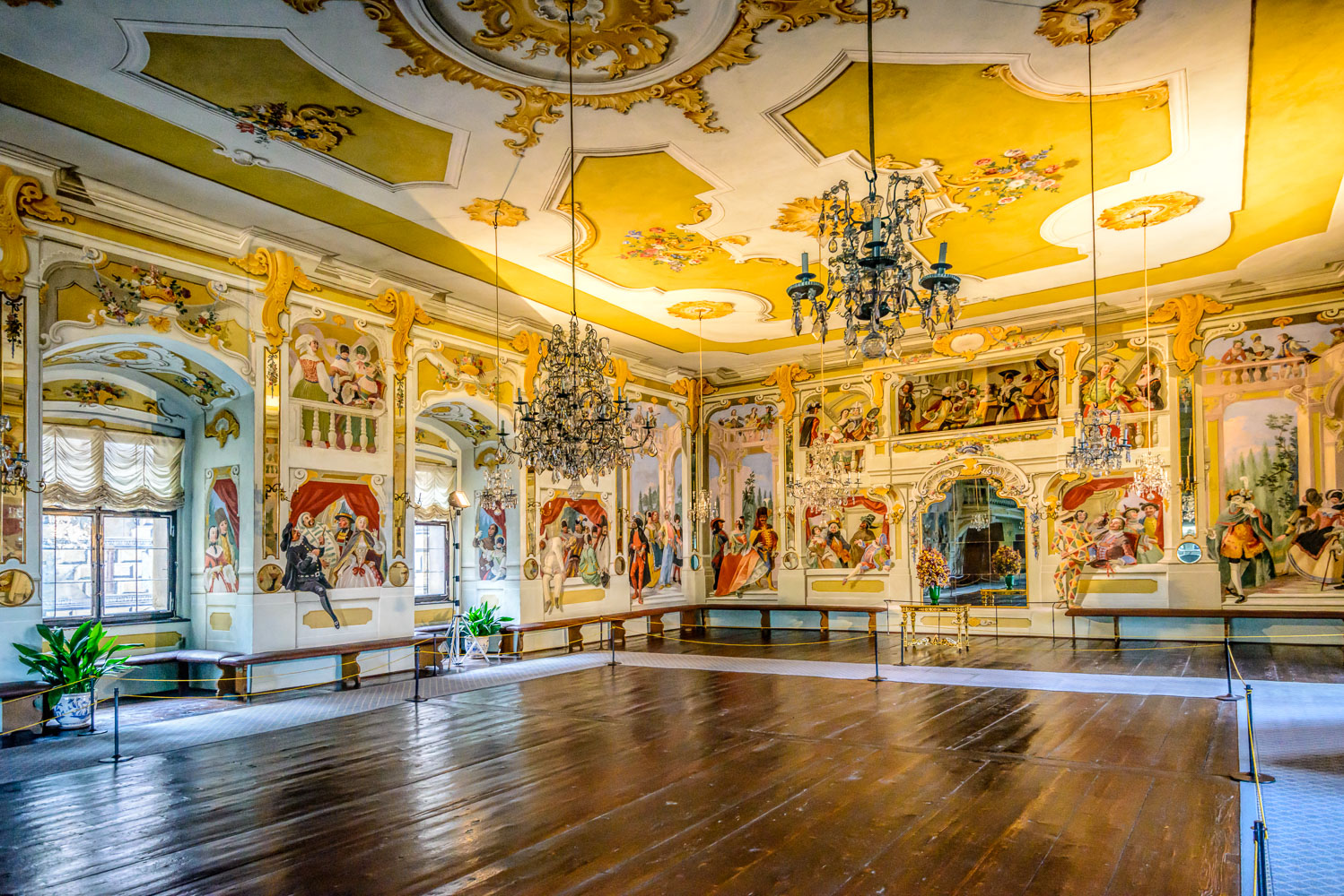 Cesky Krumlov Castle-The Masquerade Hall