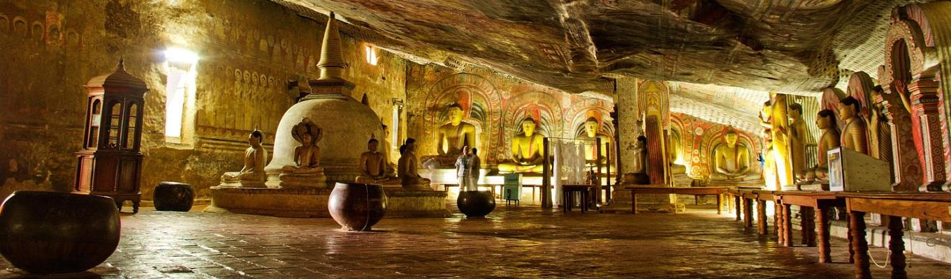 bên trong Đền đá Isurumuniya